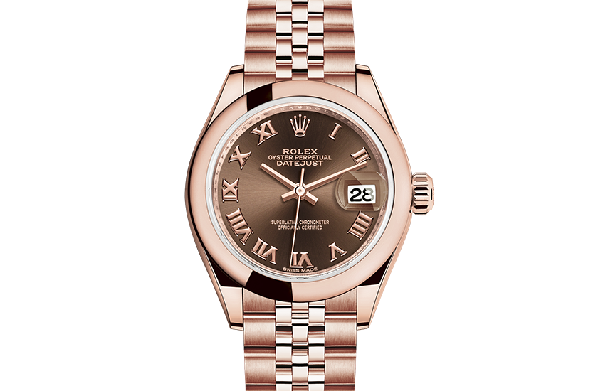 designer replica Rolex Datejust Everose gold m279165,0014