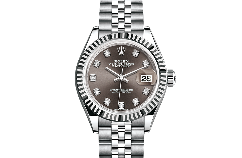 fake Rolex Datejust Oystersteel and white gold m279174,0015